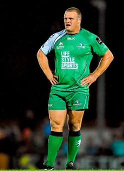 3 October 2014; Nathan White, Connacht. Guinness PRO12, Round 5, Connacht v Cardiff Blues. The Sportsground, Galway. Picture credit: Ramsey Cardy / SPORTSFILE