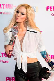 HOLLYWOOD, CA - SEPTEMBER 19: Jenna Jameson attends Perez Hilton's 10th anniversary party at Hollywood Athletic Club on September 19, 2014 in Hollywood, California. (Photo by Michael Zorn/FilmMagic)