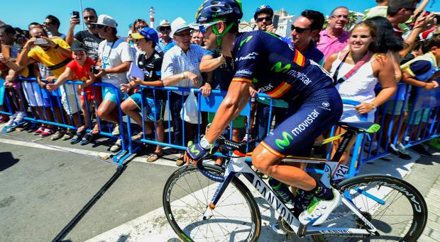 Alejandro Valverde rides before the fifth stage of the 2015 Vuelta Espana (Pic: AFP Photo/Jose Jordan/Getty Images)