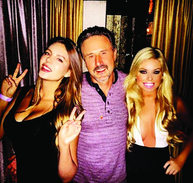 Tiffany Stanley with David Arquette and Zita Vass.