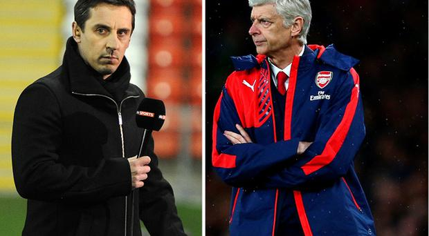 Gary Neville was criticised by Arsene Wenger
