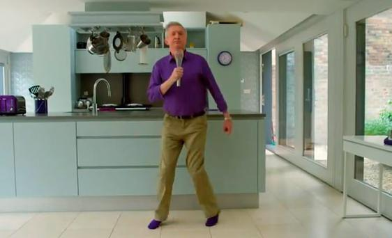 Yes, Sir, I can boogie - Louis Walsh in the new Cadbury's ad