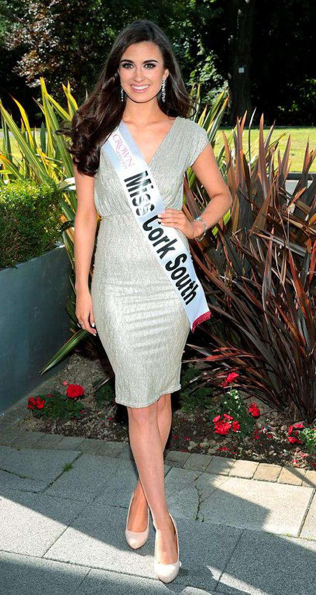 Miss Cork South Aoife O'Sullivan pictured when the finalists in this year'a Miss Ireland 2015