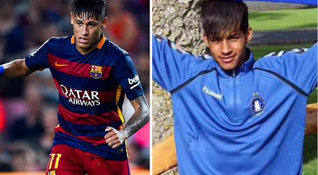 Barry Coter (right) is the image of Neymar