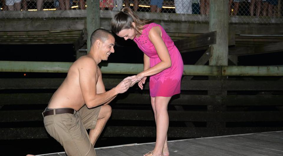 Matthew Picca dropped his girlfriend's engagement ring in the ocean. Picture; Kayla Harrity