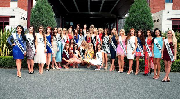The finalists in this year's Miss Ireland 2015 were unveiled at The Crowne Plaza Hotel in Santry Dublin