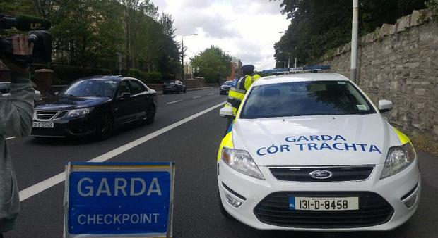 Operation slowdown checkpoint on Conyingham rd Dublin #Thumbsup (Photo: Twitter/@GardaTraffic)