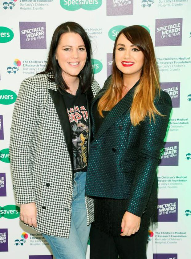Corina Gaffey and Vicki Notaro at the Irish Spectacle Wearer of the Year competition hosted by Specsavers and held in the RHA