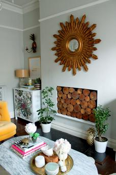 Kimberly Duran made this pine dresser look chic