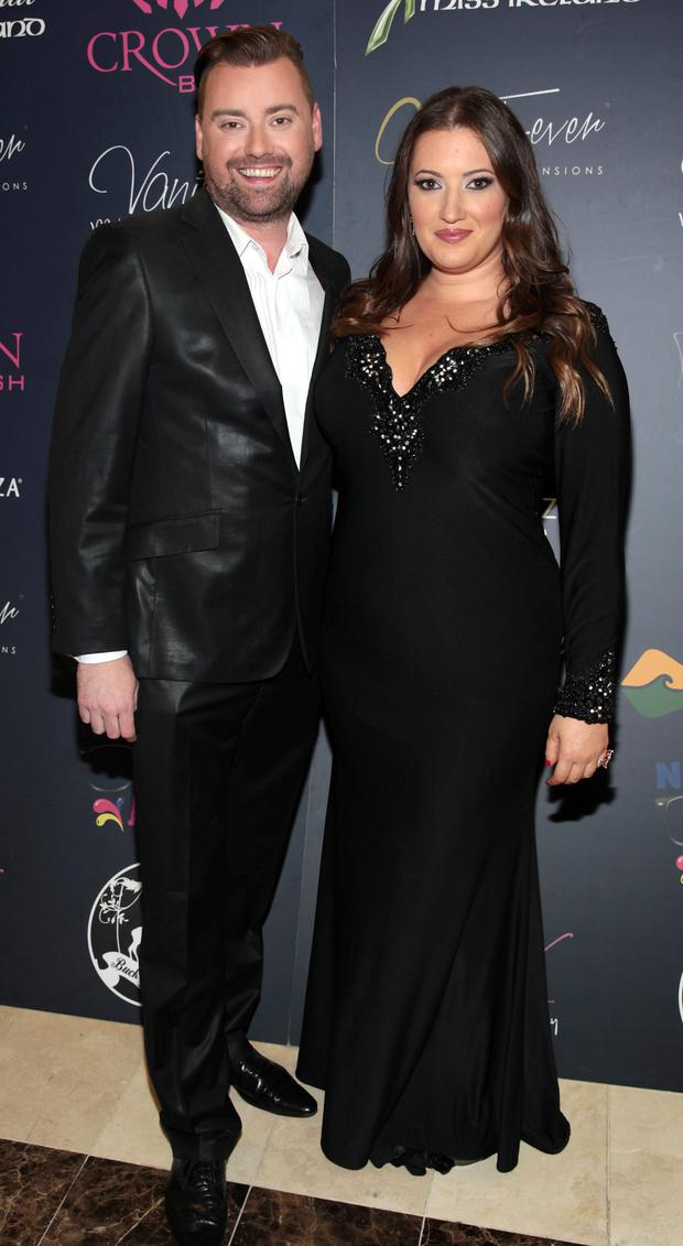 Brendan Marc Scully and Elaine Crowley pictured at the 2015 Miss Ireland Final in the Crowne Plaza Northwood in association with Gold Fever and Crown Brush. Picture: Brian McEvoy.