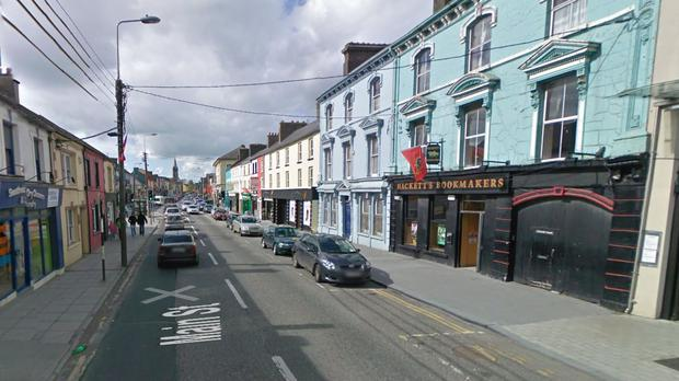 Charleville main street, close to where in incident is alleged to have occurred