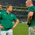 Paul O'Connell with Brian O'Driscoll