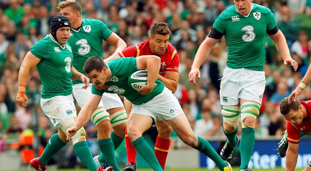 Rugby Union - Ireland v Wales - Guinness Summer Series - Aviva Stadium, Dublin, Republic of Ireland - 29/8/15 Ireland's Jonathan Sexton in action Action Images via Reuters / Cathal McNaughton Livepic