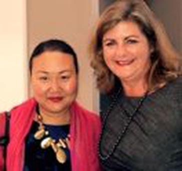 A life: Hanya Yanagihara with Sunday Independent Literary Editor Madeline Keane in Dublin last week.