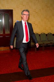 Ulster Unionist Party (UUP) leader Mike Nesbitt , arrives at the Park Avenue Hotel in east Belfast for a crunch meeting where senior members of the Ulster Unionist Party (UUP) will vote on whether to walk away from Northern Ireland's powersharing government. Liam McBurney/PA Wire