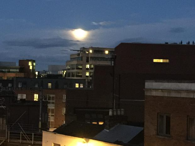 The 'Supermoon' in Dublin tonight