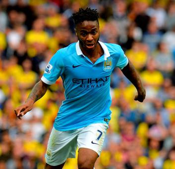Manchester City's Raheem Sterling