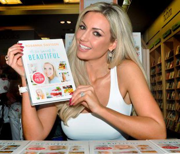 TWITTER STORM: Former Miss World Rosanna Davison signing copies of her new book 'Eat Yourself Beautiful' at Eason Bookstore in Dundrum Shopping Centre yesterday. Photo: John Dardis
