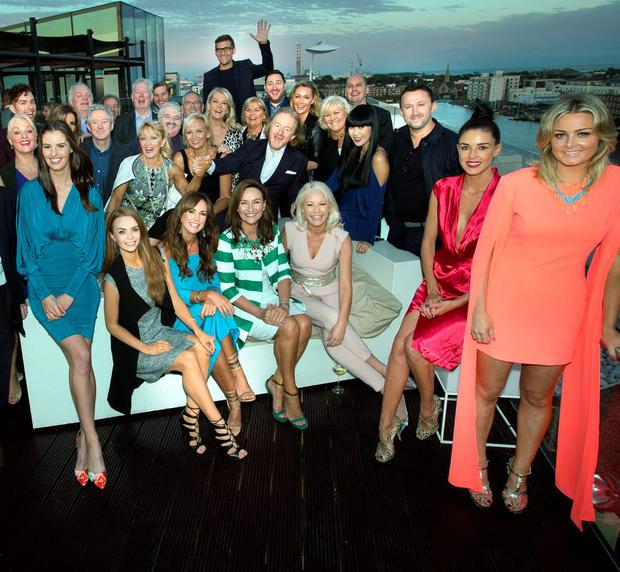 Guests at the Barry Egan summer party in the Marker Hotel. Photo: Tony Gavin