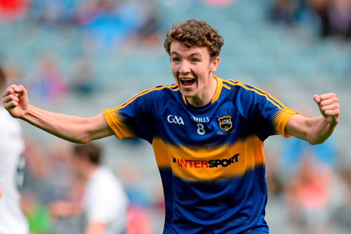 Tipperary man of the match Jack Kennedy celebrates his side's victory over Kildare in yesterday's All-Ireland MFC semi-final