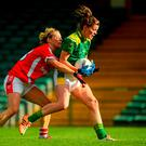 Maria Quirke, Kerry, in action against Valerie Mulcahy, Cork