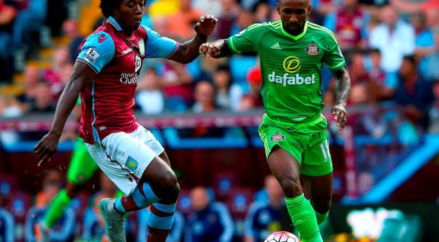 Jermain Defoe, right, in action for Sunderland during their draw against Aston Villa on Saturday