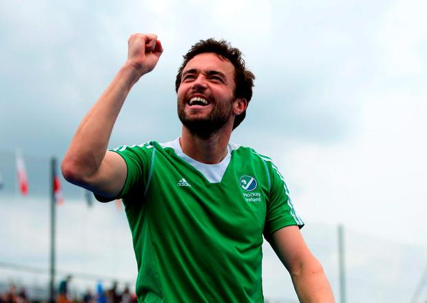 Ireland's Chris Cargo celebrates
