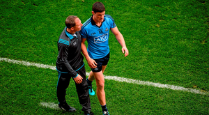 Diarmuid Connolly and manager Jim Gavin