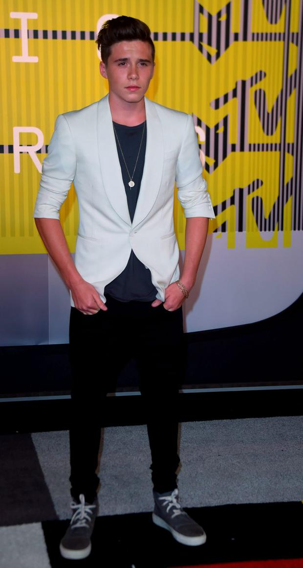 Brooklyn Beckham at the 2015 VMAs