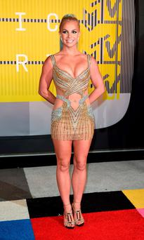 BEST: Britney Spears is back to her best in this shimmering Labourjoisie dress.