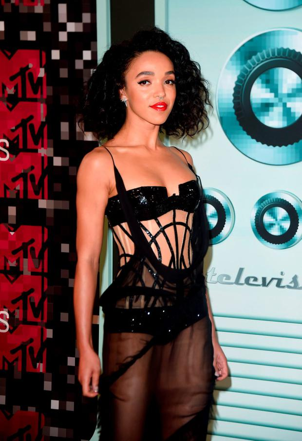 Singer FKA Twigs arrives on the red carpet at the MTV Video Music Awards (VMA), August 30, 2015 at the Microsoft Theater in Los Angeles, California. AFP PHOTO/Mark RALSTONMARK RALSTON/AFP/Getty Images