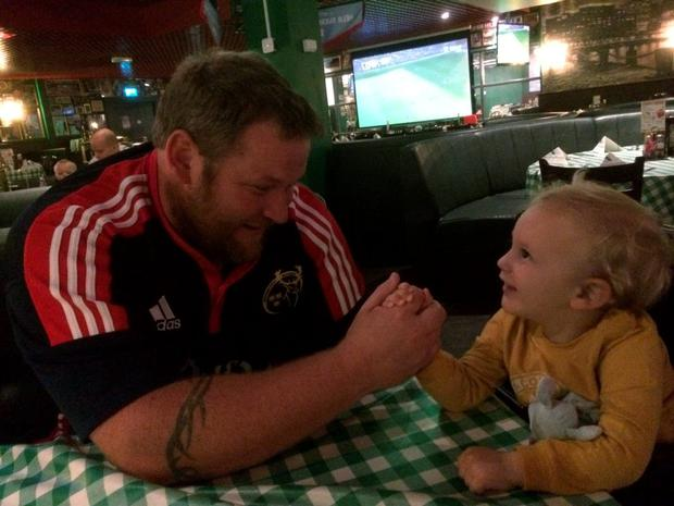 TJ O'Herlihy pictured with his son Conor