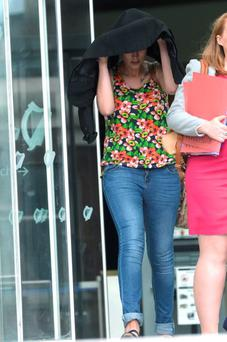Amy Guildea of Dun Saithne Road, Balbriggan. Charged with being a passenger in a stolen car. Pic: Justin Farrelly.