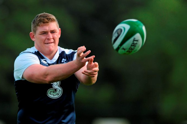 Ireland's Tadhg Furlong in action during squad training. Ireland Rugby Squad Training, Carton House, Maynooth, Co. Kildare. Picture credit: Seb Daly / SPORTSFILE