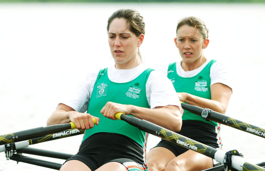 Helen Walshe (pictured) and Lisa Dilleen faced an uphill struggle against New Zealand's Eve Macfarlane and Zoe Stevenson