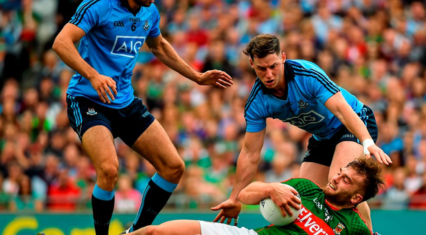 Aidan O'Shea regularly found himself isolated against several Dublin defenders during Sunday's drawn game