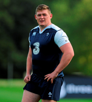 Ireland's Tadhg Furlong in action during squad training
