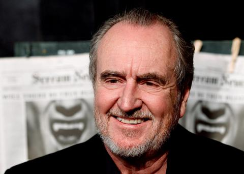 File- This Oct. 16, 2010, file photo shows Wes Craven arriving at the Scream Awards in Los Angeles. Craven, whose