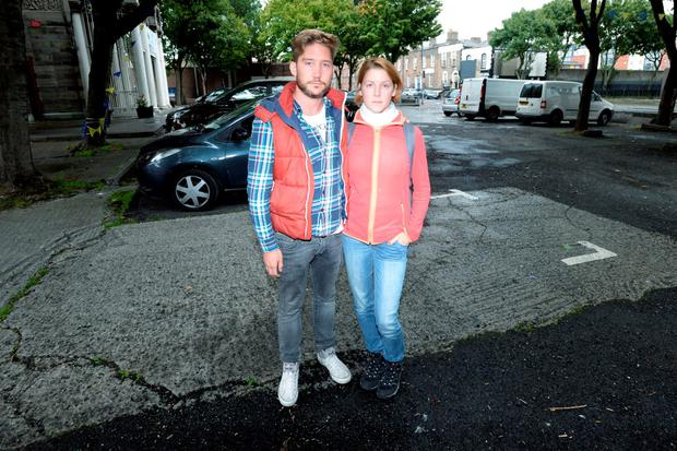 Sebastian Smulders (33) and Lena Weiss (24) from Germany who had their car robbed from Sean McDermott Street