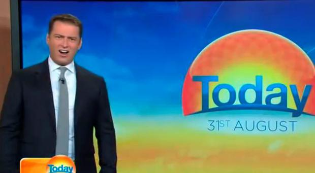 Karl Stefanovic's stunned face