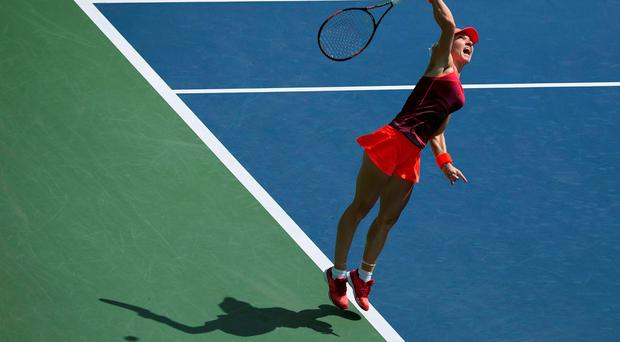Second seed Simona Halep cruised into the second round at Flushing Meadows