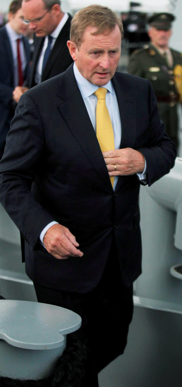 Enda Kenny (pictured) told the Commission that when he sent Brian Purcell to Martin Callinan's home late that night he did not intend to put pressure on the former Garda Commissioner to retire