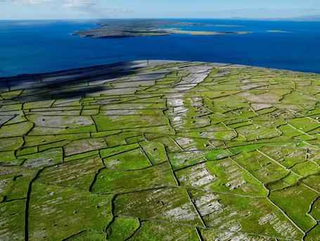 A view over Inis Meáin, one of the Aran Islands