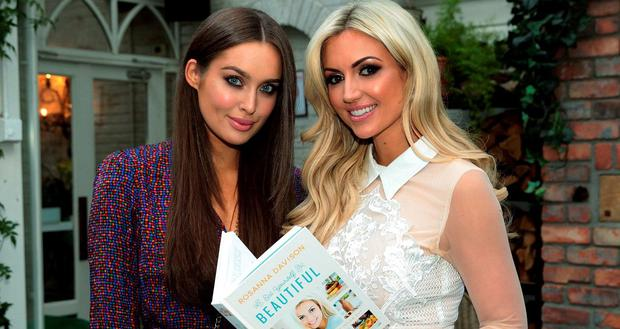 Rosanna Davison pictured with Rozanna Purcell at the launch of Rosanna Davison's book