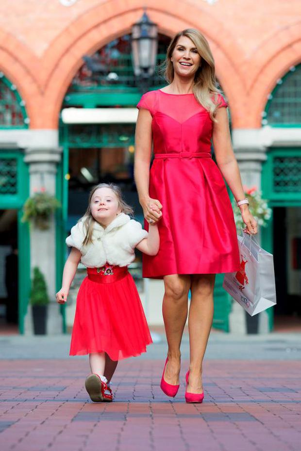 Yvonne Connolly and Hazel Buchanan (aged 4) pictured at the launch of Buy My Dress, supported by Kellogg's Special K, which is Ireland's largest one day dress sale in aid of the Down Syndrome Centre