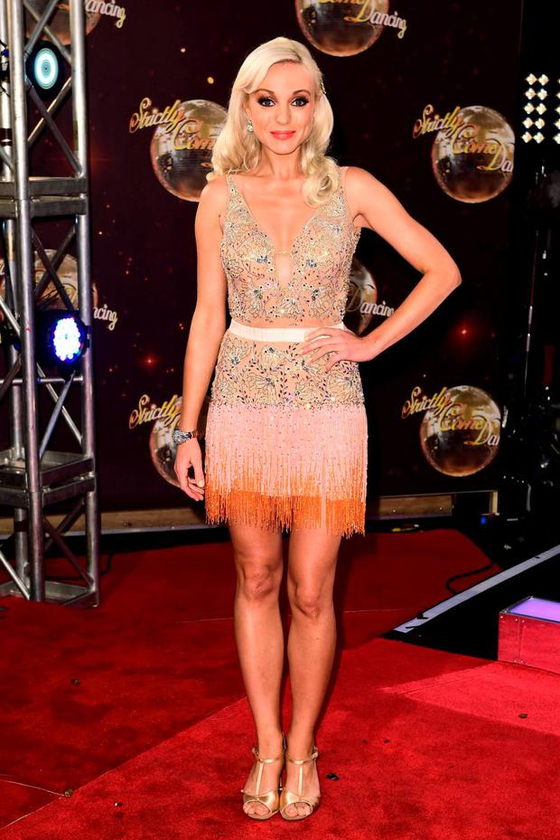 Helen George arriving at the launch of Strictly Come Dancing 2015 in Hertfordshire.