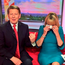 Bill Turnbull and Louise Minchin. Photo: BBCBreakfast/PA Wire