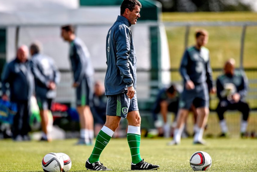 2 August 2015; Republic of Ireland assistant manager Roy Keane during squad training. Republic of Ireland Squad Training. Abbotstown, Co. Dublin. Picture credit: David Maher / SPORTSFILE