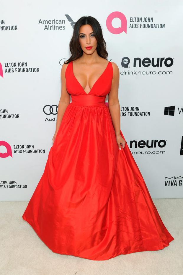 Kim Kardashian attends the 22nd Annual Elton John AIDS Foundation Academy Awards