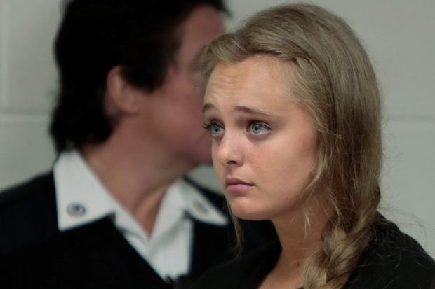 Michelle Carter in court in Juvenile Court in New Bedford Credit: Peter Pereira via AP